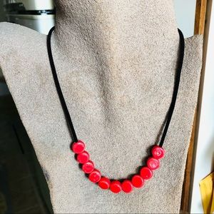 Red necklace- new